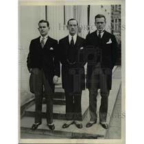 1932 Press Photo William O'Donovan, M. Oakley Bidwell and Lincoln Miller