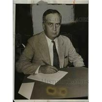 1933 Press Photo Basil Manly, former newspaperman, of Washington D.C., who has