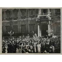 1936 Press Photo King Victor Emannuel oversees inspired demonstration in Rome,