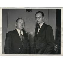 1933 Press Photo William Haines & George Imminger to accompany Adm Richard Byrd