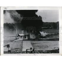 1954 Press Photo The experimental crash fire research program conducted by the