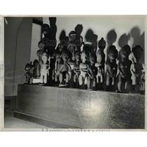 1937 Press Photo A collection of Wooden Dolls