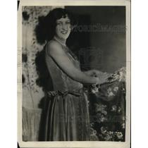 1929 Press Photo Irma Glen, radio artist at WENR, Chicago