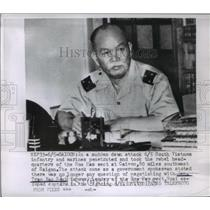 1955 Press Photo General Tran Van Sogi, Leader of the Hoa Hao Sector, Soai