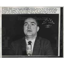 1958 Press Photo Milt Dean Hill, publicly director for National Airlines as he
