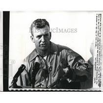 1961 Press Photo Pilot Joseph A Walker record breaking flight in X-15 rocket