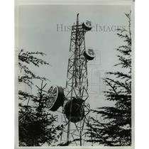 1976 Press Photo Microwave tower at Angoon in Southeast Alaska by RCA Alaska Com
