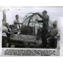 1960 Press Photo Wayne E. Wilson & Plastic Bubble Used to Float Lachine Rapids