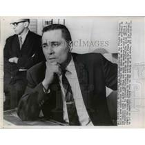 1962 Press Photo Ron Brown, President of the Flight American Engineers