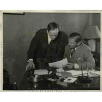 1929 Press Photo George H. Snyder with John T. Adams