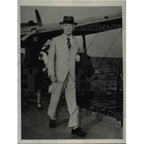 1939 Press Photo Marinus Hendrikus Damme Postmaster General of the Netherlands