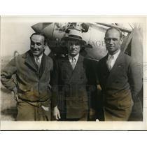 1928 Press Photo US airmen Roger Williams & Yancey & P Bonelli