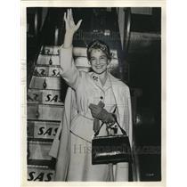 1957 Press Photo Maria Schell Actress