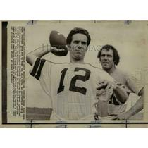 1972 Press Photo Dallas Cowboys Super Bowl hero Roger Staubach