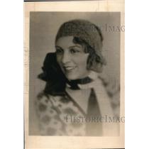 1930 Press Photo Mademosielle le Lebergy Parisian actress