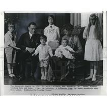 1916 Press Photo Franklin Roosevelt with his family