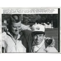 1962 Press Photo Angels baseball Albie Pearson & Pro Bob McCallister - nes24722