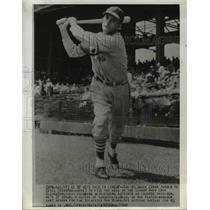 1941 Press Photo Estel Crabtree, St. Louis Cardinals Baseball Team