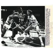 1981 Press Photo Celtics Nate Archibald & Bull's Ricky Sobers and Coby Dietrick