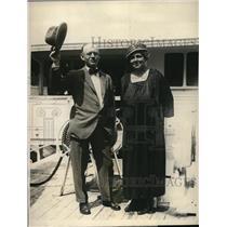 1924 Press Photo Mr & Mrs Crandell of Montreal, Mr is President of British