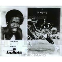Press Photo Larry Wright, Guard for the Washington Bullets