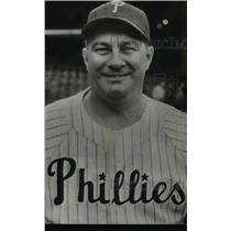 """1950 Press Photo Philadelphia Phillies Eddie Sawyer of """"Whiz Kids"""""""