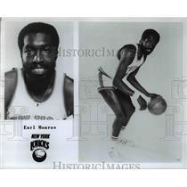 Press Photo Earl Malone of the New York Knicks