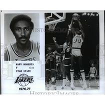 1977 Press Photo Marv Roberts, Forward for the Los Angeles Lakers