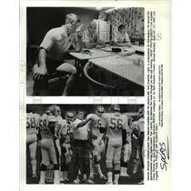 1985 Press Photo Denver Broncos football coach Dan Reeves