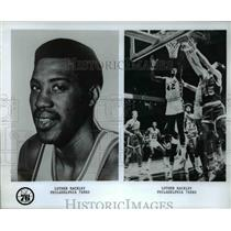 Undated Press Photo Luther Rackley of the Philadelphia 76ers