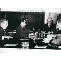 1972 Press Photo Pres Lanusse of Argentina &a military meeting - KSB49731