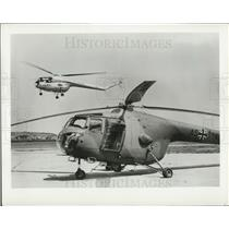 1957 Press Photo Sycamore helicopter in German markings & in British markings