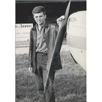 1960 Press Photo France's Youngest Pilot Jean Pierre Moreau