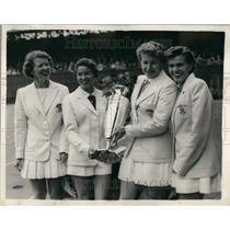 1956 Press Photo American Team at Wightman Cup Tennis At Wimbledon - KSB50771