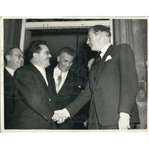 1955 Press Photo Edvard Kardelj the Vice President of Yugoslavia Visits London