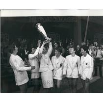 1968 Press Photo Britain win the Wightman Cup for the First Time Since 1960