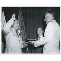 1957 Press Photo General Thomas D. White is Sworn in as Air Force Chief of Staff