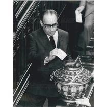 1971 Press Photo Giacomo Mancini, Socialist Party Secretary 0f Italy - KSB00291