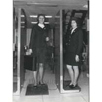1970 Press Photo Airport Security Metal Detectors Installed Demonstration