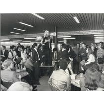 1976 Press Photo Strike of United-Nations-Employees in Geneva