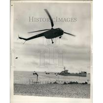 "1956 Press Photo ""Demonstration Runaground""Marine - Army - Naval and Air Force"