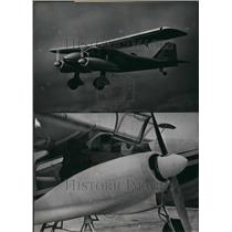 1960 Press Photo Professor Dornier files with his new Do 28. - KSB40089