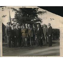 1926 Press Photo American Union Labor Officials at the Citizen's Military