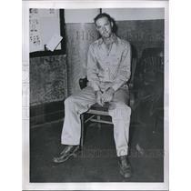 1945 Press Photo Hackensack, NJ Pvt Bernard Romprey arrested on murder charges