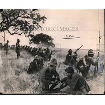 1912 Press Photo U.S. Army during maneuvers.