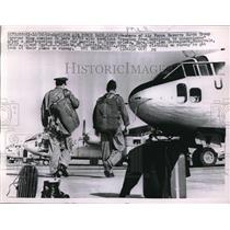 1962 Press Photo Members of Air Force Reserve at the Runway of Hamilton Base.