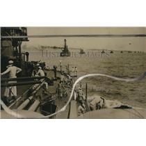 1915 Press Photo US battleships set blockade at a coast