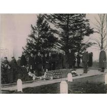 1920 Press Photo Burial of Pvt. Viarato Claudio de Mello at Arlington Cemetery.