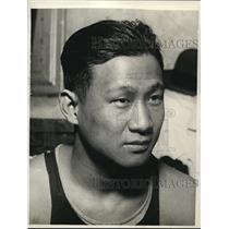 1929 Vintage Photo Close-Up Keneta Useda First Japanese Boxer Olympics