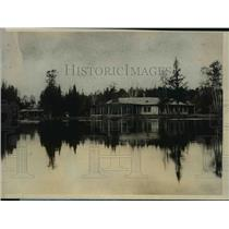 1928 Press Photo Cedar Island Lodge Where President Coolidge Will Spend Vacation
